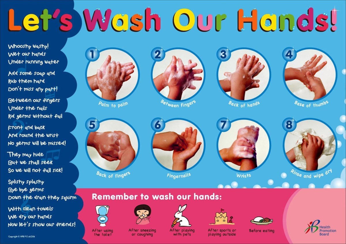 Let's wash our hands